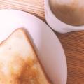 プチ大福で(^^)黒糖カフェアーモンドミルク汁粉♪