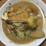 根菜と鶏肉の甘酒味噌煮