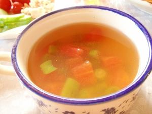 簡単!夏野菜のコンソメスープ