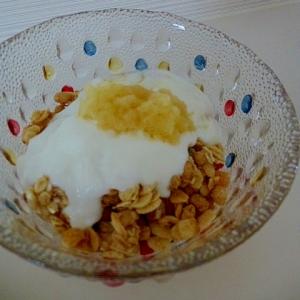 朝食フルグラ★りんごヨーグルト