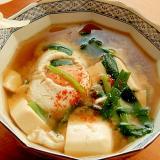 スタミナ食材!?男の手料理❤ニラと豆腐の味噌汁♪