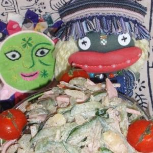 新生姜とキュウリのサラダ
