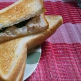 パンで朝食♪ツナマヨトースト~