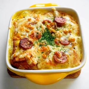 コーンスープの素を使って簡単!パングラタン