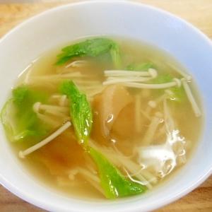 ザーサイとえのきの中華スープ