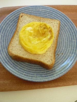 時短できる、卵焼きのオープンサンド