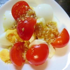 卵とミニトマトのサラダ