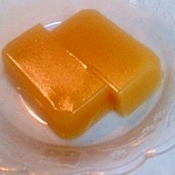 オレンジの水ようかん