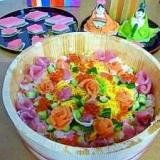 ひなまつりに!バラがいっぱい!ちらし寿司