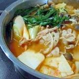 野菜たっぷり☆豚キムチ鍋