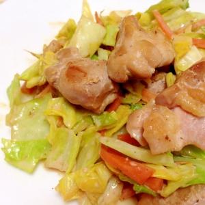 サワークリームで☆鶏肉と野菜のしょうゆ炒め