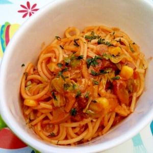 キャベツミートソーススパゲティ