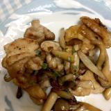 豚薄切り肉と舞茸の甘辛炒め