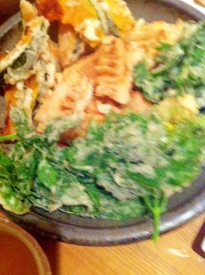 たけのこの味付き天ぷら