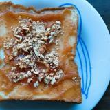 イチジクジャムとアーモンドときな粉のトースト