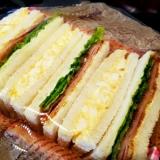 簡単‼満足‼ハムカツサンドイッチ