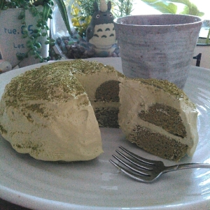 糖質制限★小麦粉不使用★W抹茶おからレンジケーキ♡