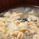 簡単!玉ねぎのわかたまスープ