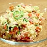 ボリュームいっぱいの定番ポテトサラダ