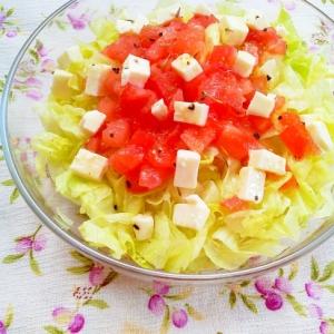 火を使わない!トマト&チーズのイタリアンサラダ