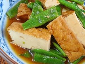 簡単お惣菜☆ 「厚揚げとササゲ味噌炒め煮」