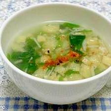 根みつばとえのきのとろみスープ