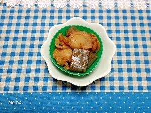 ボイルホタテとコンニャクの煮物