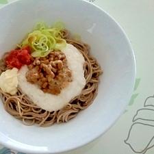 サラダ風味のネバ蕎麦++
