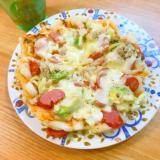 フライパンで作る簡単ランチ☆カリカリもちもち餅ピザ