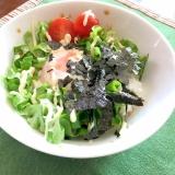 温泉卵&サラダ☆丼