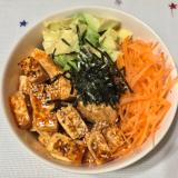 豆腐のポキ丼