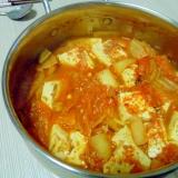 豆腐たっぷりキムチ鍋