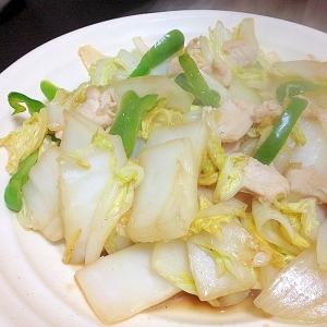 白菜と鶏のオイスター炒め