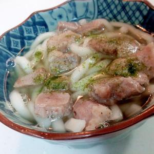 豚バラ肉の半うどん(温)