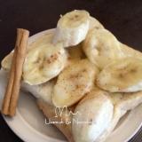 シナモンの香りのチーズ・バナナトースト