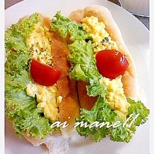 コッペパン卵サラダ