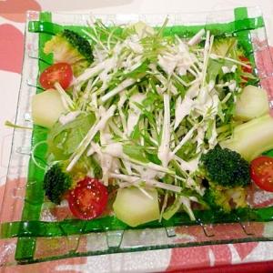 水菜とブロッコリーのサラダ♪