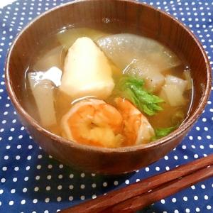 【糖質制限】お正月にも♪海老と真鱈のお吸い物