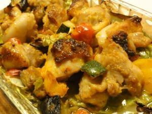 鶏もも肉とイタリアンミックスグリル