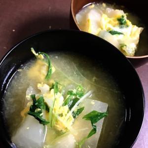 カブと水菜のお味噌汁