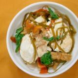 豆腐と切り昆布の煮物