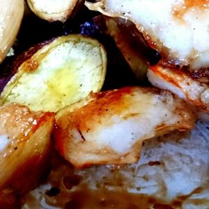 鶏肉と根菜の甘辛炒め☆オーブンでヘルシー手間いらず