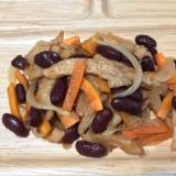 金時豆(赤いんげん豆)と大豆ミートの甘煮