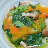 小松菜としめじと人参の煮浸し