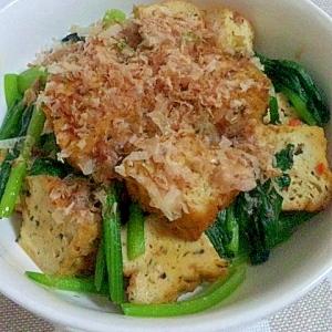簡単和食☆小松菜とがんもどきの煮浸し