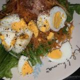 人参とゆで卵のポン酢サラダ