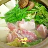 残り野菜で☆簡単鶏の水炊き