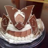 子供の日に!兜の立体ケーキ