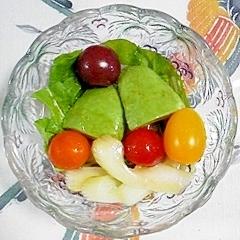 ルッコラとセロリのバルサミコサラダ