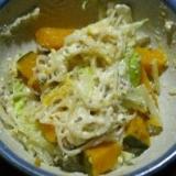 かぼちゃとビーフンの豆乳マヨサラダ